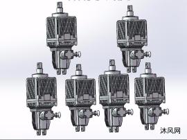 6款BEd121/6~BEd301/12系列隔爆型电力液压推动器模型