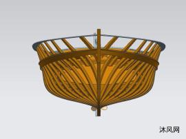 木质小船骨架图纸