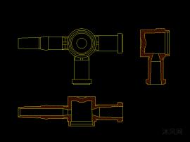 医疗器械输液管路三通阀热流道模具