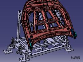 汽车前盖引擎盖及其上件台