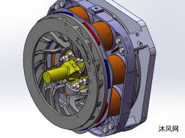 變速器后置式電渦流緩速器三維模型