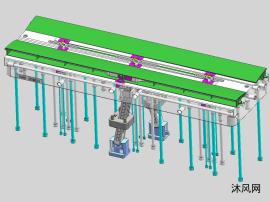 空调内机导风板注塑模具图档