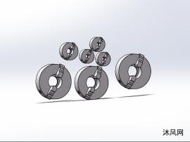 7款K10型二爪自定心卡盘模型
