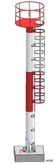 新式港口燈樁
