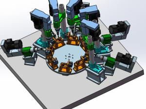 多轴旋转自动钻孔机模型