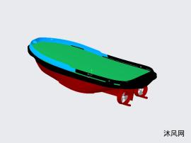 簡易43m拖船殼體圖