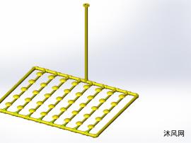污水處理設備曝氣盤的連接布置圖紙