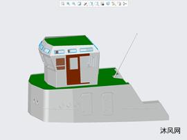 拖船船身結構簡圖
