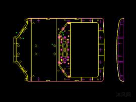 斜顶跑水路柜机空调外壳面板模具