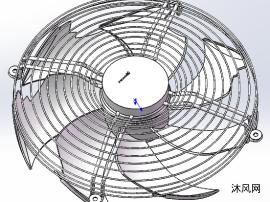 室外机风机STEP零件
