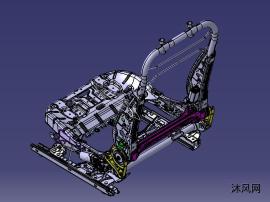 国产某汽车前排座椅骨架数据