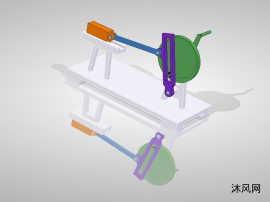 滑動曲柄機構設計圖