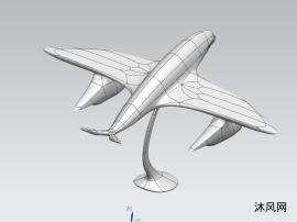 海豚飞机模型设计