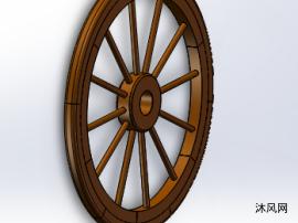 木制轮子装配体