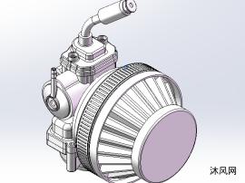 发动机化油器3D模型