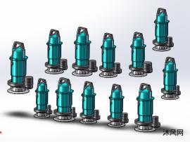 12款小型潜水电泵QDX模型