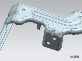 汽車后懸掛縱臂外支架歐美工廠用連續沖壓模具結構
