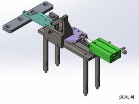 简单凸轮连杆式四工位前进下压机构