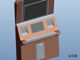 游戏操作台三维模型图纸