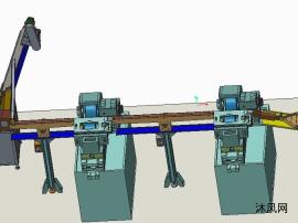 磨床连线-筒类零件磨床计数装箱连线