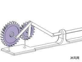 齿轮驱动连杆机构