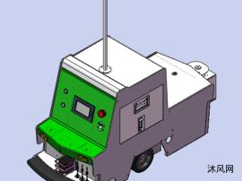 单驱单向后牵引AGV小车-1.1M