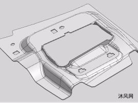 汽車散熱器下擋板歐美工廠用的連續沖壓模具結構