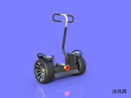 脚踏电动平衡车模型设计(原创设计,全网独此一份)