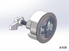 工业门锁设计模型