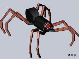 可动的蜘蛛机器人
