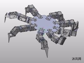 六足仿生机器蟹的设计机械螃蟹机器人