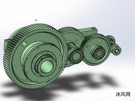 齿轮传动机构模型图