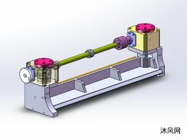 蝸輪蝸桿升降壓料機構