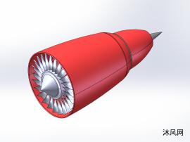 红色喷气发动机
