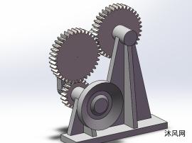 齿轮连杆机构的三维模型