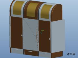 proe分类垃圾桶三维模型图纸