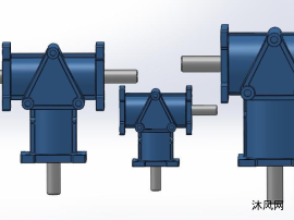 3款AGT系列螺旋锥齿轮转向箱模型