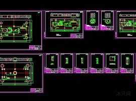 微型电机的定子级进模设计(CAD图纸) 冲压模具