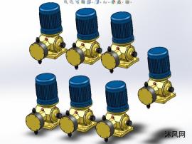 全系列7款DJ-D系列计量泵设计模型