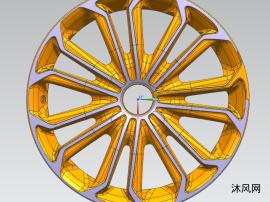 1410汽车轮毂,包含DWG,XT格式