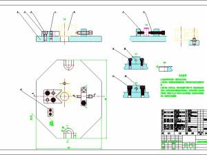 K010-CA6140车床手柄座拉键槽铣14槽夹具设计