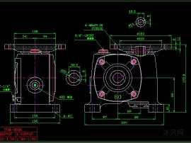 TOW和TOM系列蜗轮减速机CAD图