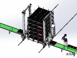 RGV四向可移动立体仓库MH110机器人自动化码垛锂电池电芯CELL