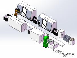 CNC加工自动化示意