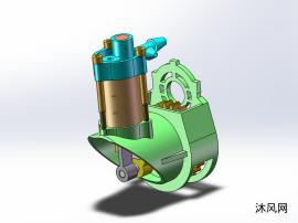 打气泵三维模型