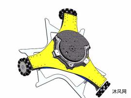 可旋轉帶激光雷達以及定位系統的精定位底盤