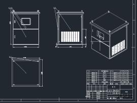 电源柜CAD图