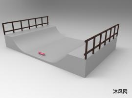 UG滑板和轨道