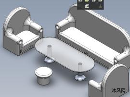 沙发茶几的模型