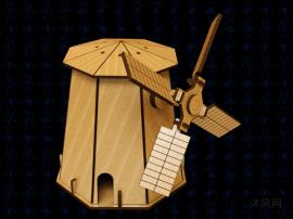 風車木制玩具